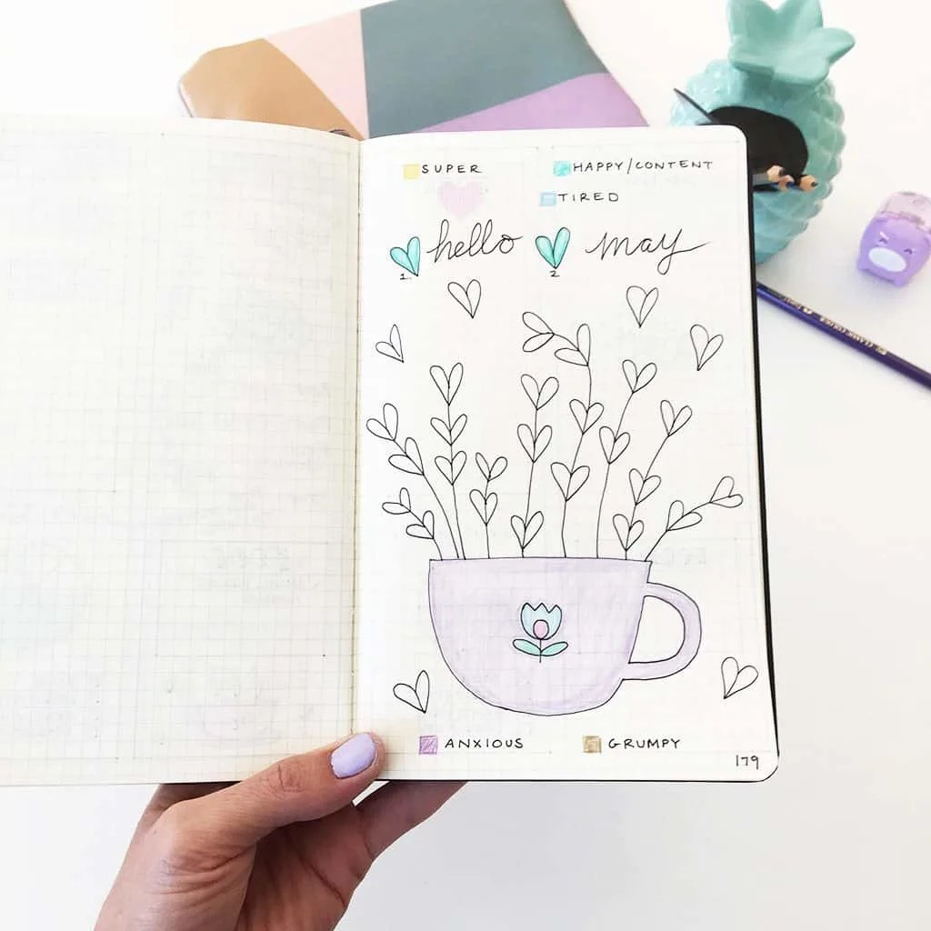 Heart Bullet Journal Mood Tracker Ideas Perfect For