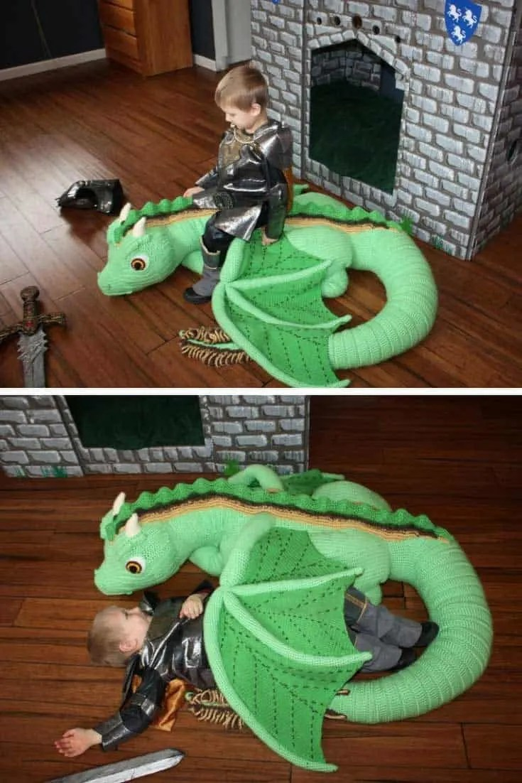 This Life Sized Baby Dragon Crochet Pattern Will Blow Your