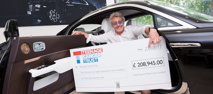 Roger Daltrey CBE Donation with Rolls-Royce Tommy Car