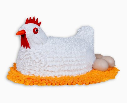Chicken Shaped Cake