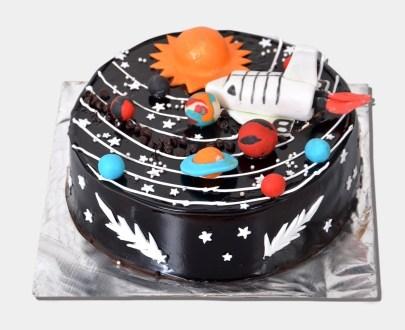 Chocolate Galaxy Cake