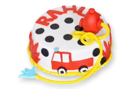 Fire Brigade Cake (Semi Fondant)
