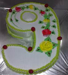 9 Shaped Cake (Any Flavour) in Pune Designs, Images, Price