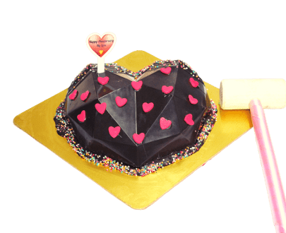 Heart Diamond Pinata Cake in Pune2