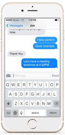 Send text messages from JustCall