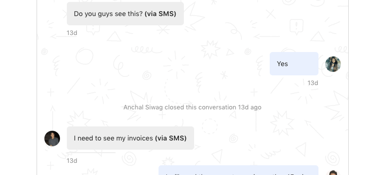 Convert Customer Texts into Intercom Conversations