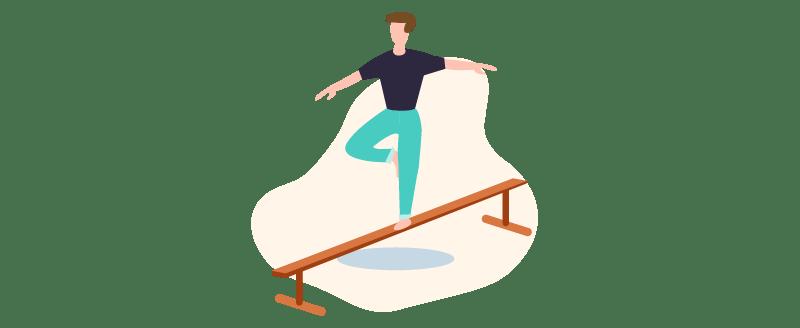 strike a balance with work