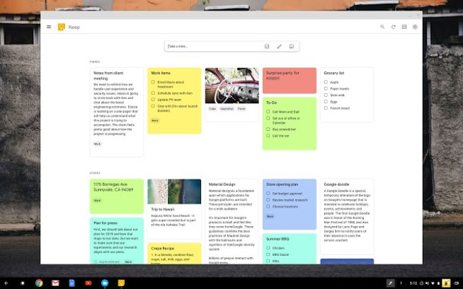 Google keep- remote tool