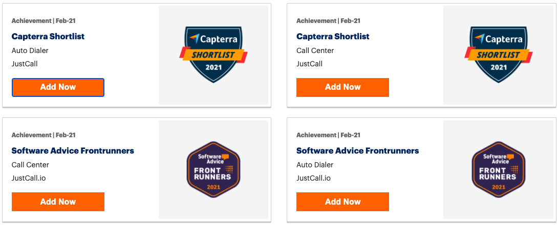 JustCall-Capterra-Awards
