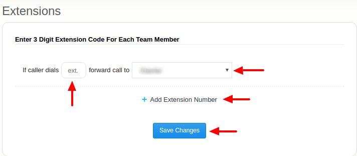 Call extension uses