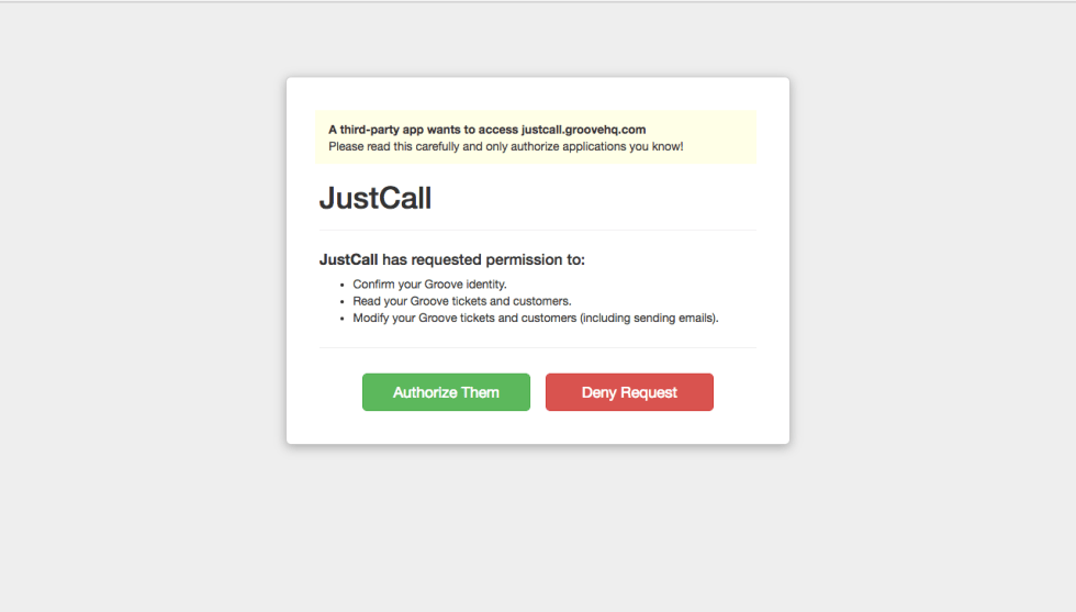 justcall-groove-oauth-screen