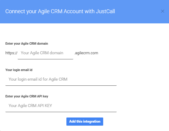 agile crm integration