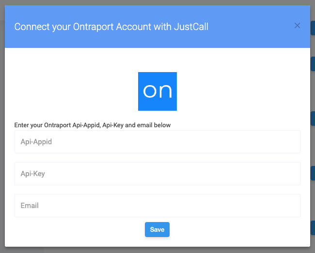 ontraport justcall integration