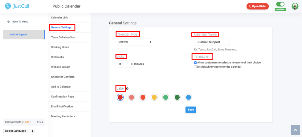 Appointment Scheduler - general settings