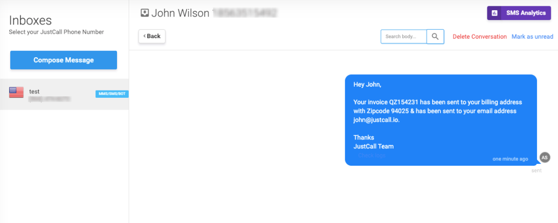 personalize automation template sms