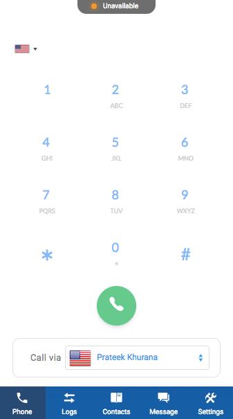 JustCall Web Dialer