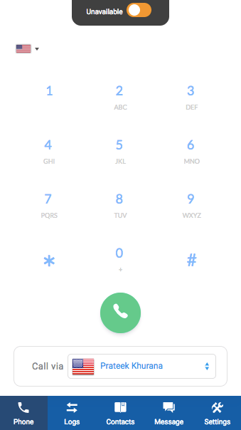 JustCall Dialer Availability Toggle