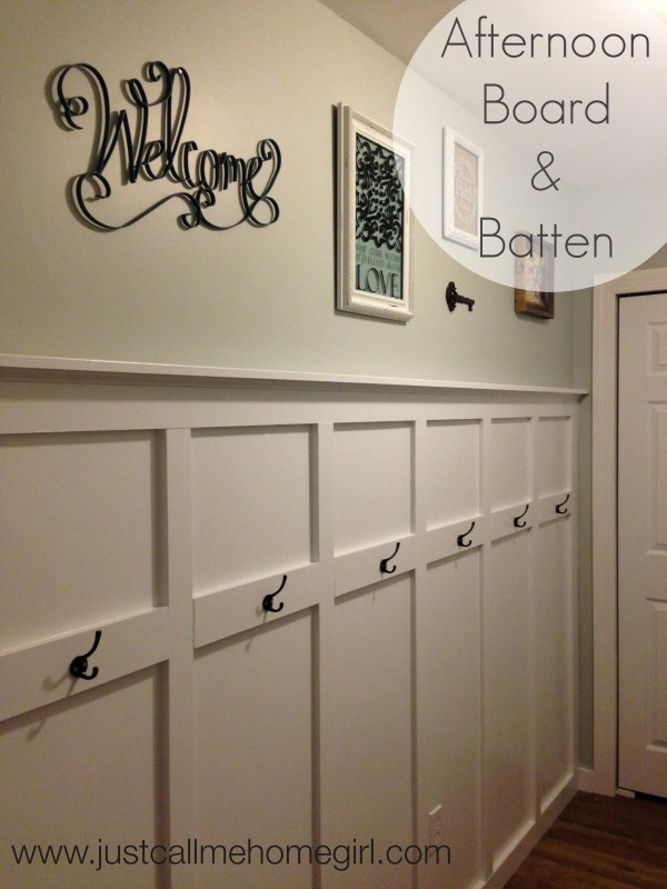 Board and Batten Wall with Hooks