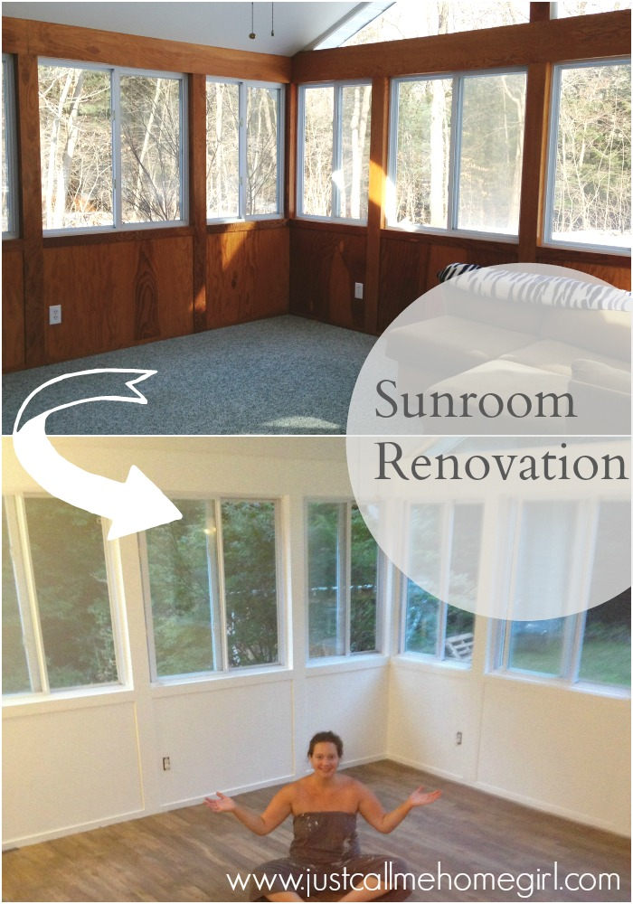 The Beginning of our Sunroom Renovation  Just Call Me