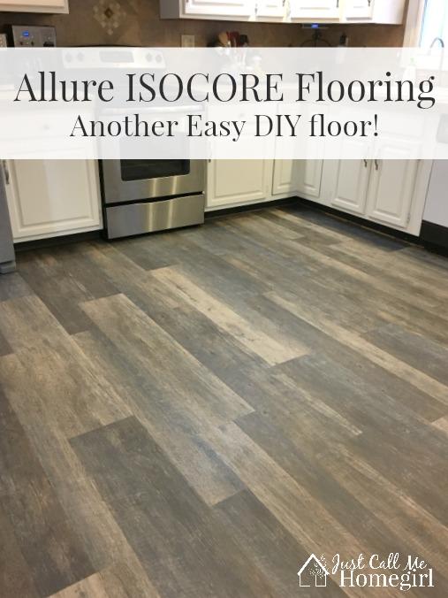 home depot kitchen floor tile brushed nickel cabinet hardware allure isocore diy flooring - just call me homegirl