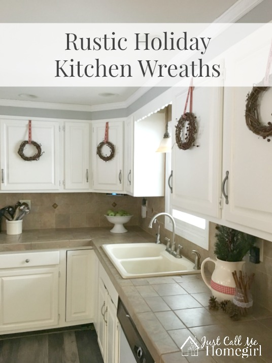 how to decorate my living room rustic nice paint for easy holiday kitchen wreaths - just call me homegirl