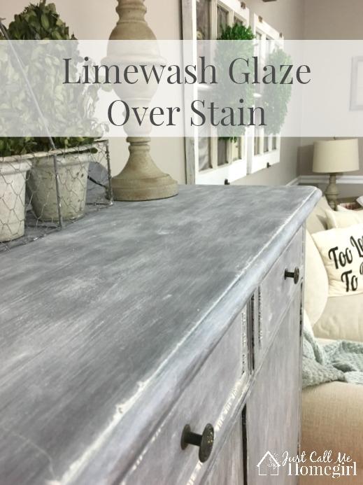 Limewash Glaze Over Stain  Just Call Me Homegirl