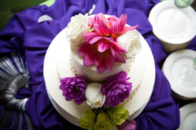 wedding cake - top view