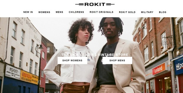 rokit british ethical vintage fashion