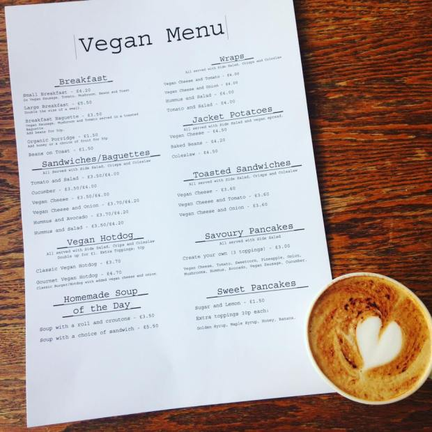 penelopes dereham vegan menu