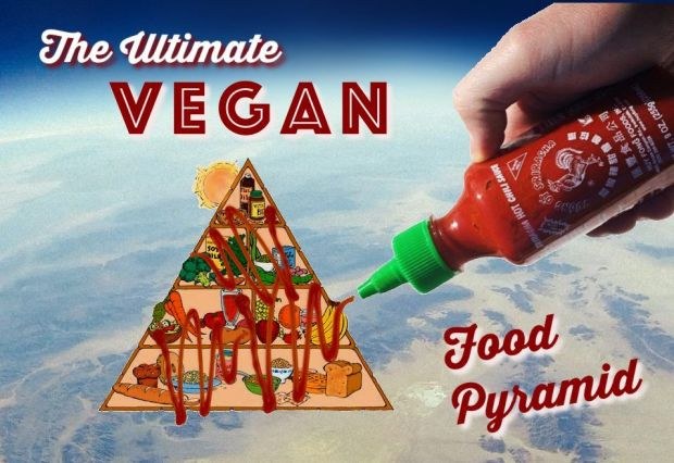Vegan Food Pyramid sriracha