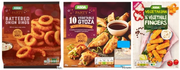 asda vegan party food