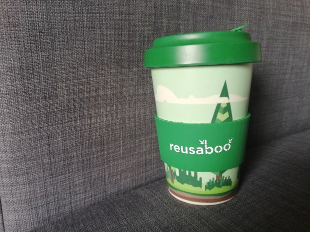 Leak proof reusable coffee cup reusaboo