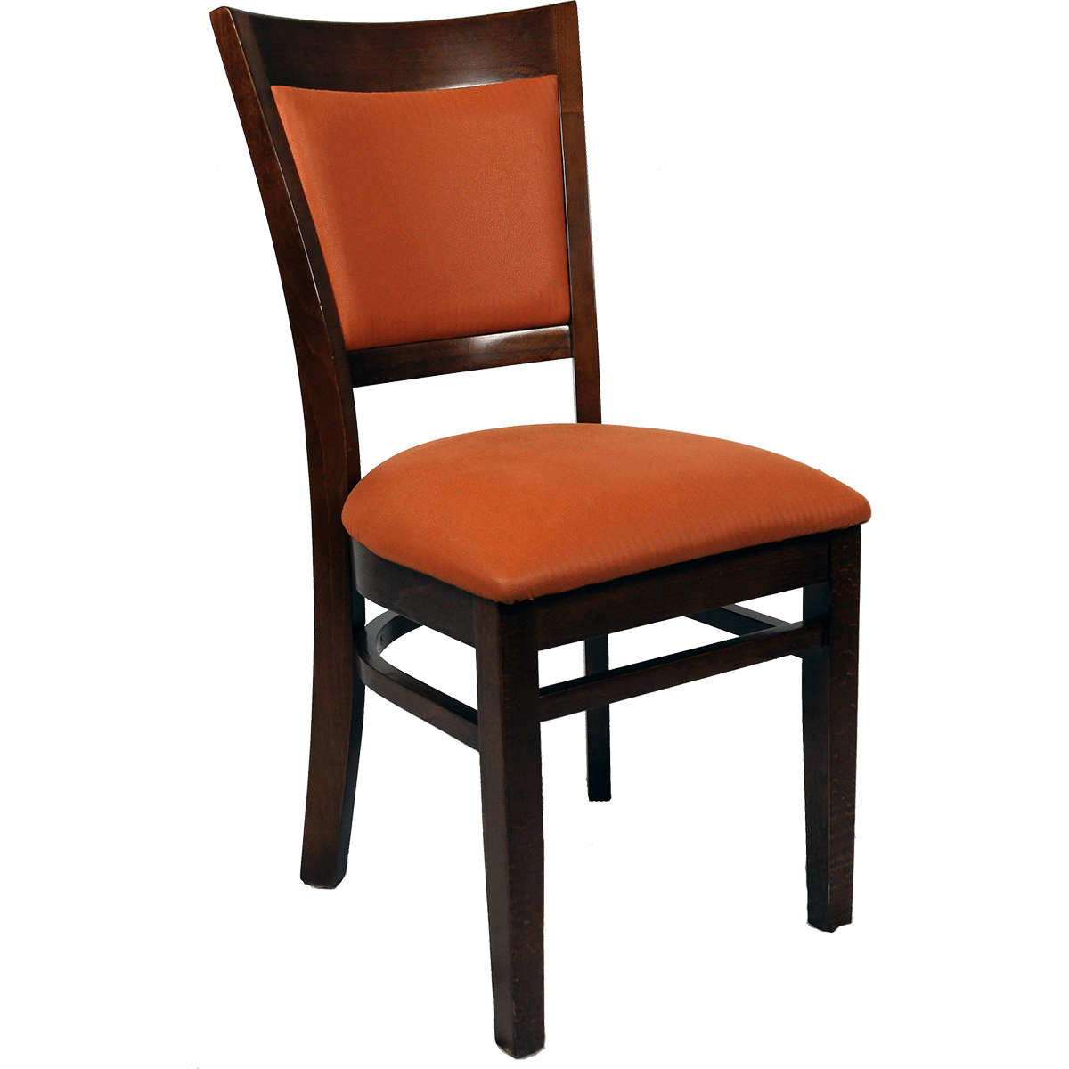 Padded Chair Chairs Wood Upholstered Flared Inset Back Chair