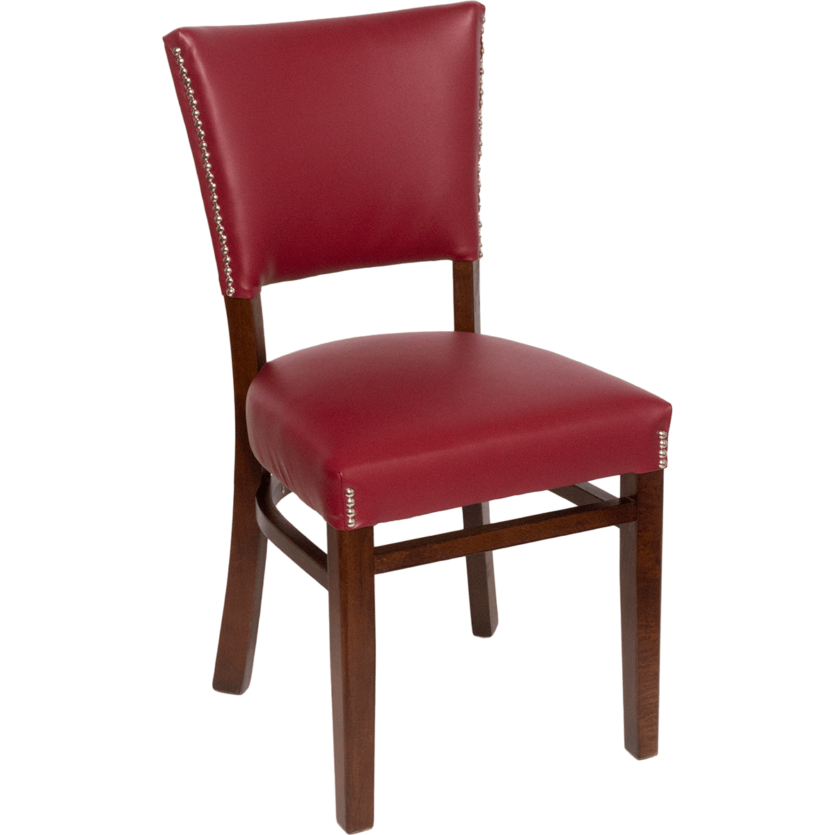 Chair Back Chairs Wood Upholstered Flared Pullover Back Chair
