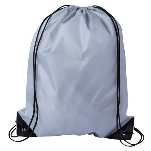 Drawstring Sports Bag Grey