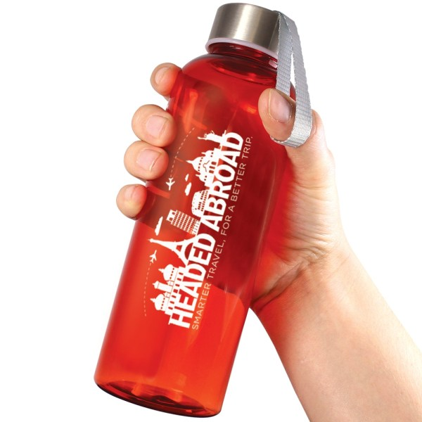 Printed Quench water bottle red