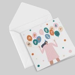 square greeting card.