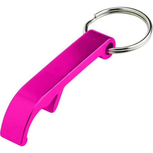 bottle opener keyring pink