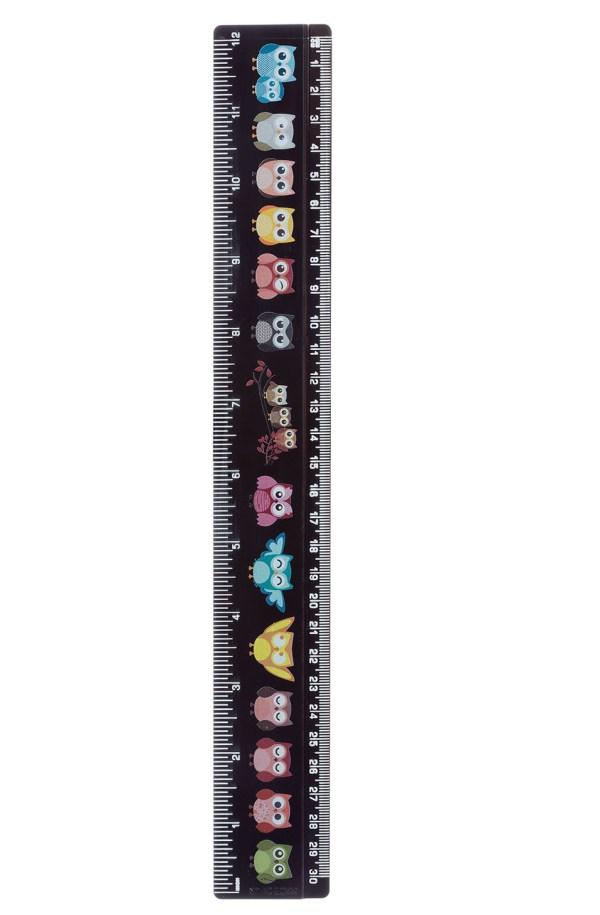 30cm+Ruler+Black