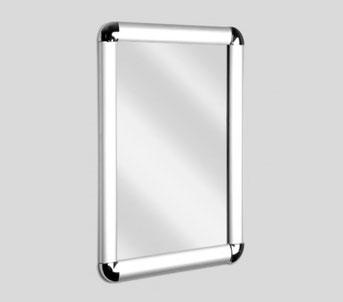 Silver rounded corner snap frame