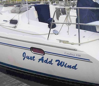 Boat Decals and Lettering