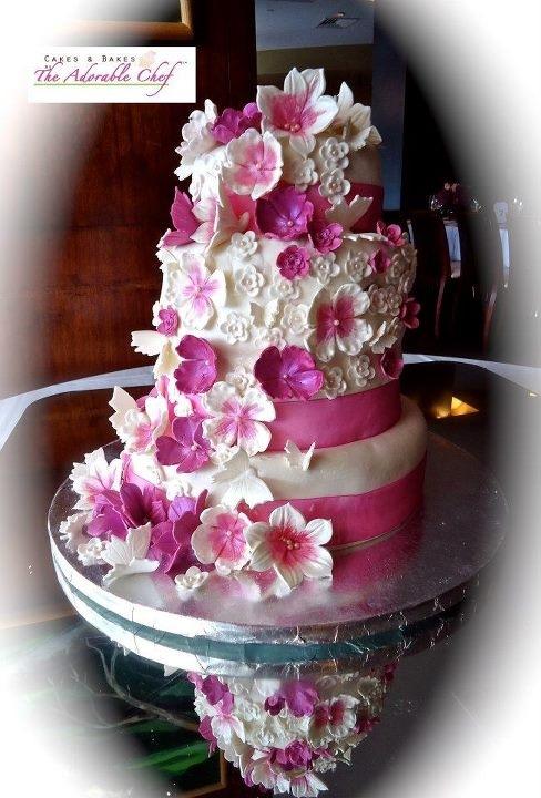 pinkweddingcake