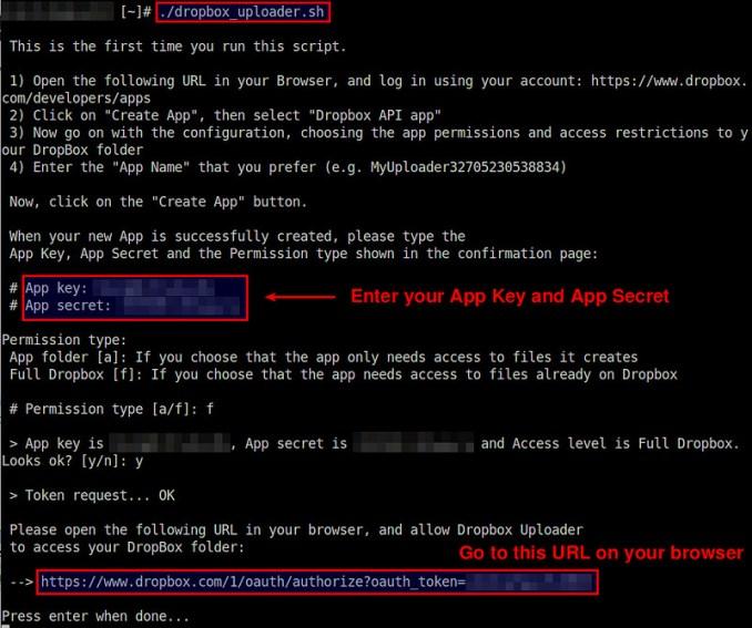 Linux: 命令行访问 Dropbox, 命令行查看或上传文件到 Dropbox, 命令行调用Dropbox V2 API