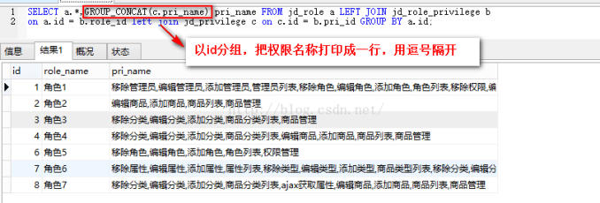 MySQL:多表查询, 连表操作和GROUP_CONCAT函数的使用, GROUP BY结合GROUP_CONCAT, GROUP_CONCAT DISTINCT multiple columns