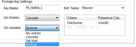 Mysql: 外键约束, CASCADE、SET NULL、RESTRICT、NO ACTION分析和作用, Cannot delete or update a parent row: a foreign key constraint fails