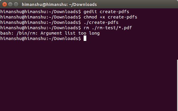 Shell: 删除某时间之前的文件,Argument list too long错误, Remove all files created before a certain date,Argument list too long error