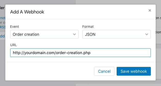 PHP: 创建shopify webhook, shopify webhook实例, create shopify webhook, php shopify webhook example
