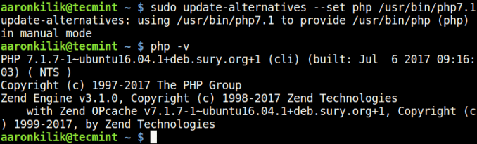 安装不同版本的PHP, PHP多版本安装, How to Install Different PHP (5.6, 7.0 and 7.1) Versions in Ubuntu