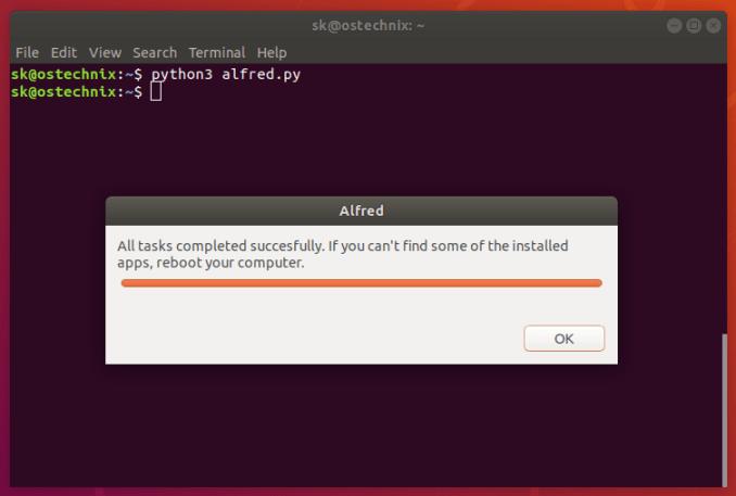在 Ubuntu 上自动化安装基本应用的方法, 安装及使用Alfred