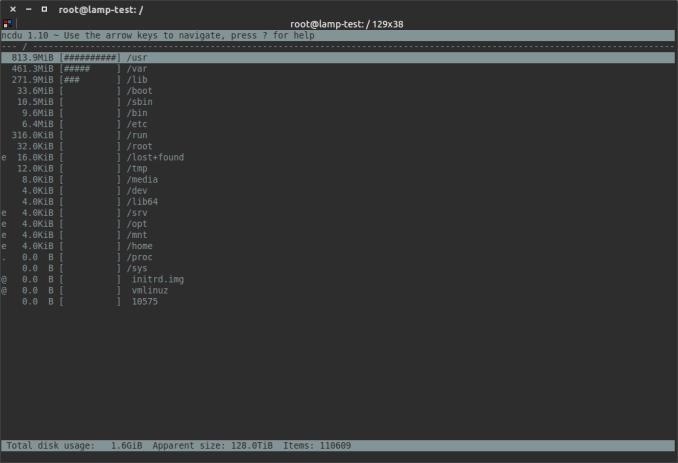 Linux使用find / du递归查找目录中的最大文件, ncdu, 磁盘空间查看命令(du,df)剩余空间查看详解, Linux find largest file in directory recursively using find/du